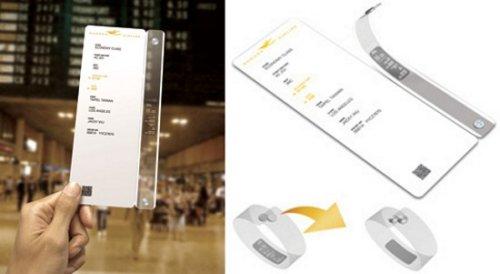 TicketTime: boarding card & watch combo