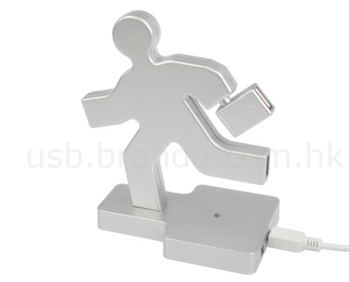 Running man 4-port USB hub