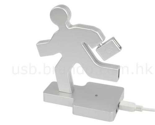 Running man 4-port USB hub