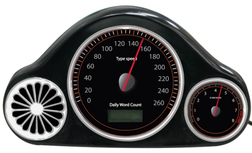 USB Speedometer keeps track of your typing speed and amount