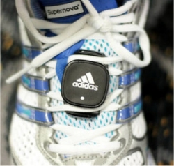 Adidas foot pod to be used with the Samsung F110 miCoach mobile phone