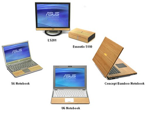 Asus showcases bamboo laptops concept