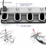 Eject Powerstrip concept keeps it green with pedals