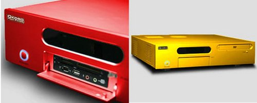 Okoro ZX100 Home Theater PC in automotive colors