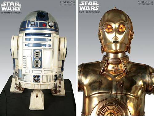 Life-size R2-D2 & C-3PO replicas
