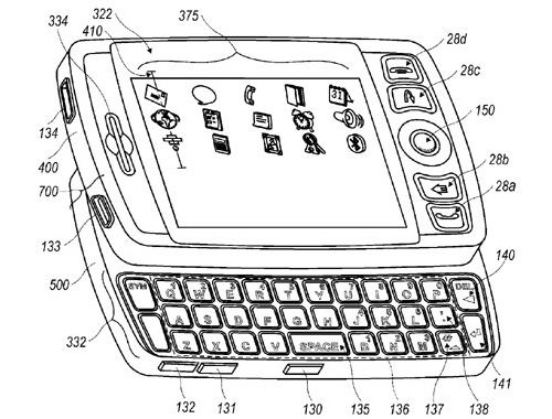 RIM patents a QWERTY slider phone