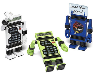 Robot calculators add character to your desk