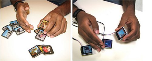Siftables prototype from David Merrill at MIT for physically interactive input devices