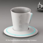 Tea cup PC with holographic projector
