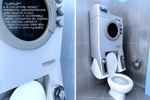 WashUP: A washing machine on your toilet