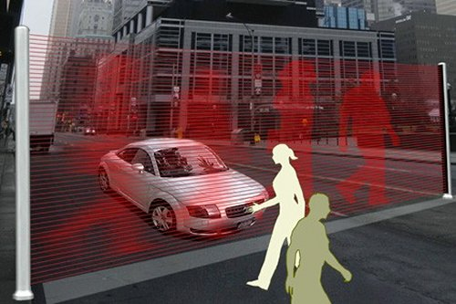Virtual Wall concept protects pedestrians