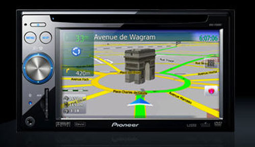 Pioneer in dash navigation unit