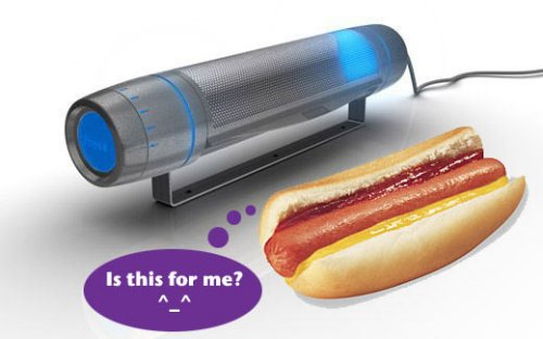Bagetty microwave for the hot dogs, baguette obsessed