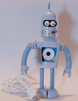 Home made Futurama Bender webcam
