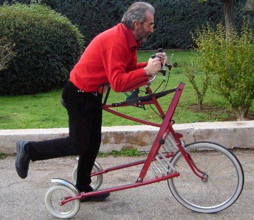 Running-powered bike is ridiculous