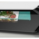 Digital cutting board with LCD