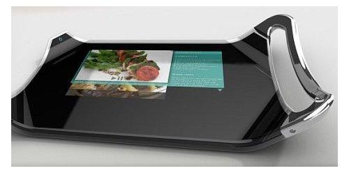 Digital cutting board with LCD