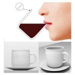 Ergonomic coffee mug fits your lips