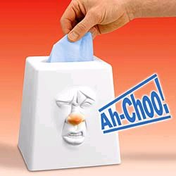 Talking tissue box mocks you