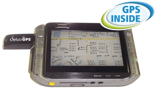 Deluo Navstick USB GPS receiver with a UMPC