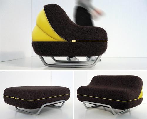 Eclosion pump up sofa concept