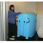 Robot elephant washes urinals in Japan