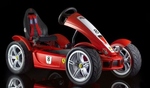 Ferrari Go-Cart with dashboard computer
