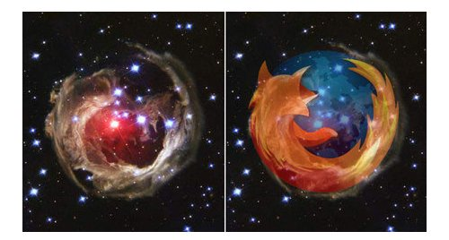 Firefox logo spotted in space