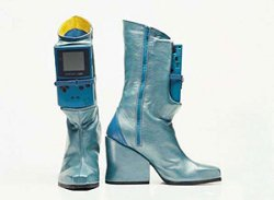 Gameboy boots for the gaming Disco Stu
