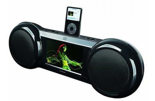 Goodman's iPod boombox with 7-inch LCD display