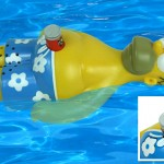 Homer Simpson floating radio complete with Duff