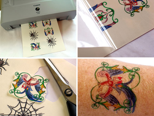 Inkjet Tattoo paper makes you look tough, no pain