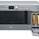 LG Microwave Toaster looks weird, saves space