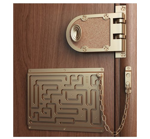 The Defendius door chain maze