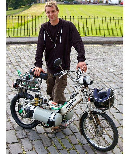 A moped that runs on fresh air