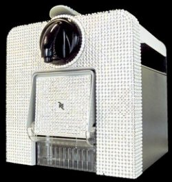 Swarovski-studded Nespresso coffee maker