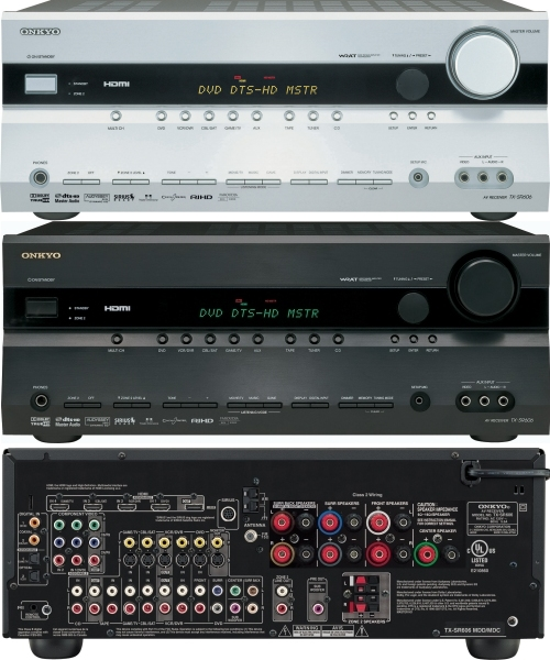 Onkyo TX-SR606 home theater receiver wtih 1080i video upscaling and more HDMI