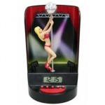 The Pole Dancer alarm clock will not accept money