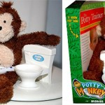 Potty Monkey teaches you how to use the toilet