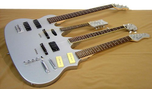 World's first quadruple-neck guitar