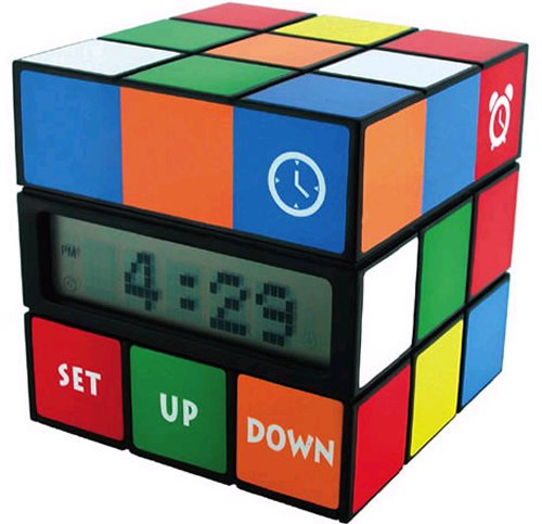 Rubiks Cube alarm clock is retro cool