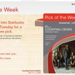 Starbucks offering iTunes Pick of the Week free downloads
