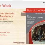 Starbucks offering iTunes Pick of the Week free downloads
