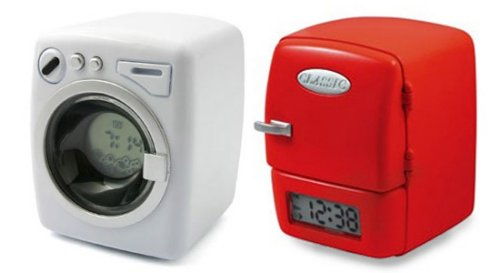 Home appliance alarm clocks