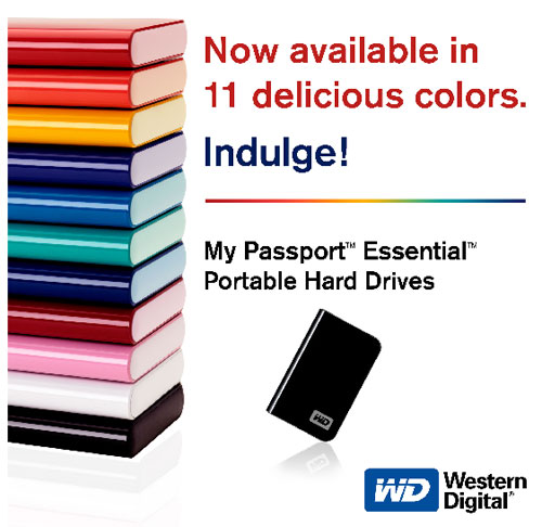 WD My Passport USB Drive in Colors