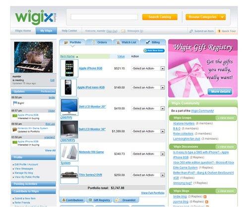 Wigix is eBay done Nasdaq style