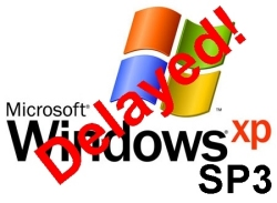 Windows XP SP3 delayed due to compatibility glitch