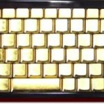 Zip-Ang handmade gold keyboard
