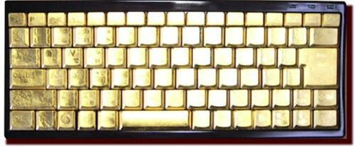 Zip-Ang Handmade gold keyboard