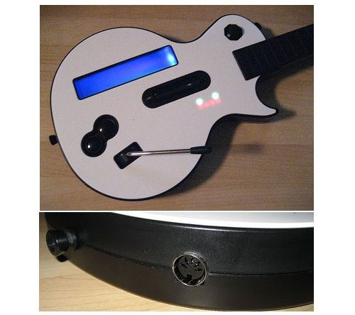 Wii Guitar Hero axe now a MIDI controller